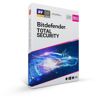 Bitdefender Total Security - 5 zařízení na 1 rok- elektronická licence do emailu