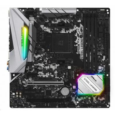 ASRock MB Sc AM4 B450M STEEL LEGEND, - AMD Promontory B450, 4xDDR4, HDMI