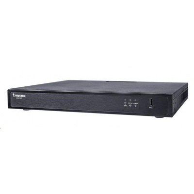 Vivotek NVR ND9424P (v2), 16 kanálů s PoE (200W), 4k UHD, 2x HDD (max.16TB),  2x USB, 1xHDMI (až 4k), DI/DO, Vivo Cloud