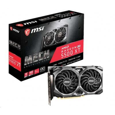 MSI VGA AMD Radeon™ RX 5500 XT MECH 8G OC, 8GB GDDR6, 3xDP, 1xHDMI