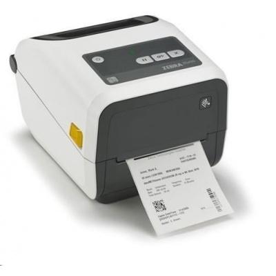 Zebra TT (cartridge) ZD420t Healthcare, autotridge, 8 dots/mm (203 dpi), MS, RTC, EPLII, ZPLII, USB, BT, Wi-Fi, bílá