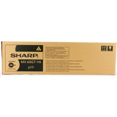 Sharp toner yellow (24.000 kópií) MX-2630N; MX-3050N - MX-6050N; MX-3060N - MX-4060N; MX-3070N - MX6070N