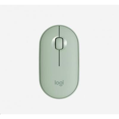 Logitech Pebble Wireless Mouse M350, eukalyptová