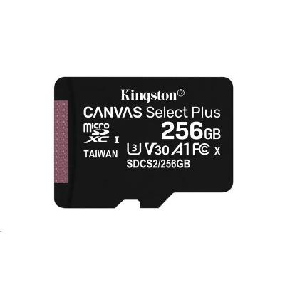 Kingston 256GB micSDXC Canvas Select Plus 100R A1 C10 - 1 ks