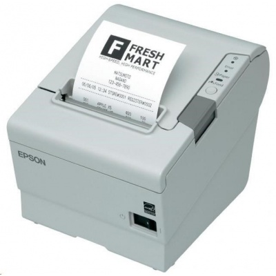 Epson TM-T88V, USB, Ethernet, light grey