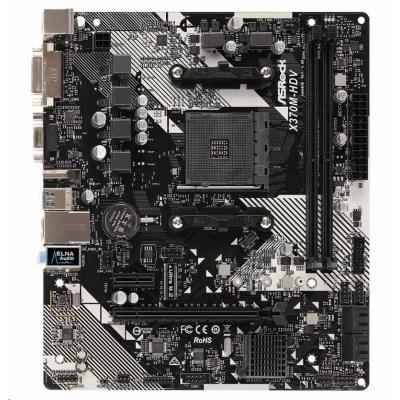 ASRock MB Sc AM4 X370M-HDV R4.0, AMD Promontory X370, 2xDDR4, HDMI