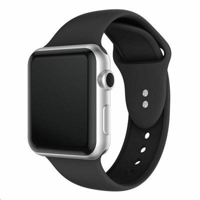 eses Silikonový řemínek 38mm/40mm S/M/L černý pro Apple Watch