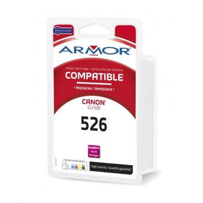 ARMOR ink-jet pre CANON Pixma IP4850, MG5150, MG5250, MG6150, MG8150 , 640 strán, CLi526M, červená/magenta (CLI-526M)