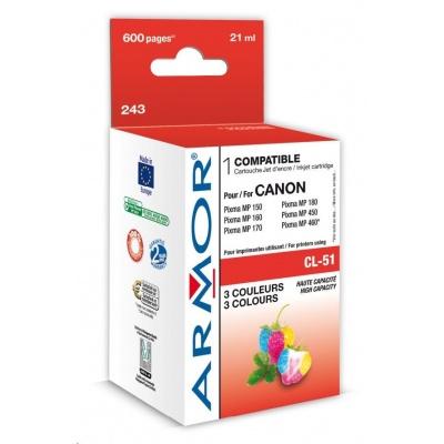 ARMOR cartridge pro CANON Pixma IP2200, MP150, MP160, MP450, MX300 (CL51) color