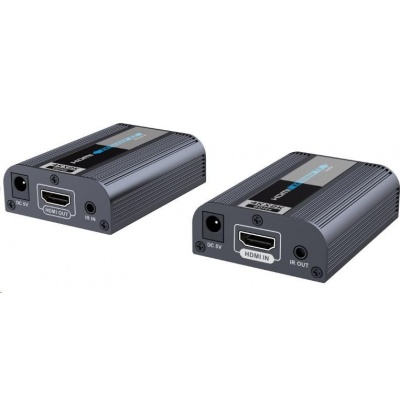 PREMIUMCORD 4Kx2K@60Hz HDMI2.0 extender na 60m přes jeden kabel Cat6/6a/7