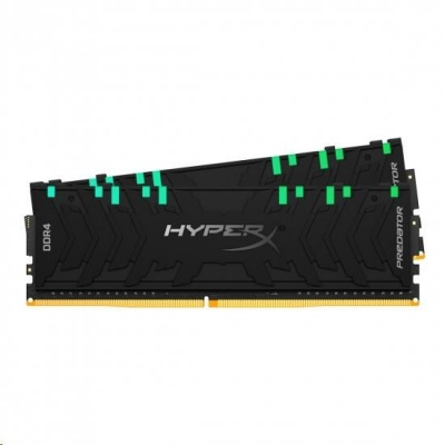 DIMM DDR4 64GB 3200MHz CL16 (Kit of 2) KINGSTON XMP HyperX Predator RGB Black