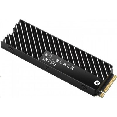 WD BLACK SSD NVMe 1TB PCIe SN750, Gen3 8 Gb/s, (R:3400, W:2900MB/s)+Chladič