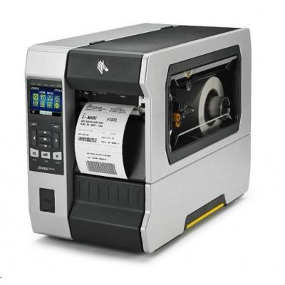 Zebra ZT610, 8 dots/mm (203 dpi), odlepovač, rewind, disp., ZPL, ZPLII, USB, RS232, BT, Ethernet