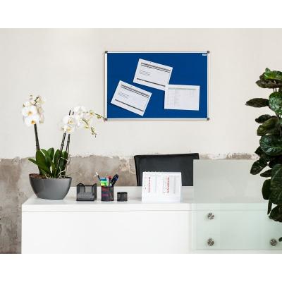 Textilní  nástěnka AVELI 120x90, hliníkový rám
