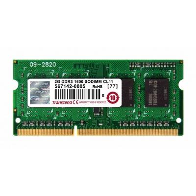 SODIMM DDR3 2GB 1600MHz TRANSCEND 1Rx8 CL11