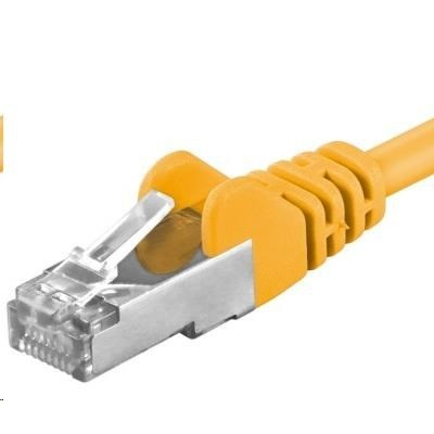 PREMIUMCORD Patch kabel CAT6a S-FTP, RJ45-RJ45, AWG 26/7 1m žlutá