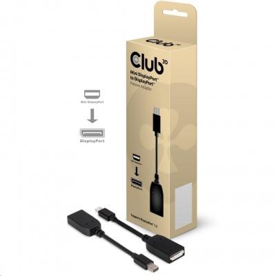 Club3D Adaptér mini DisplayPort na DisplayPort (M/F), 13cm