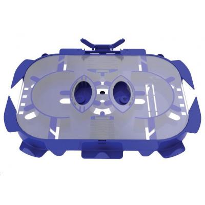 Optická kazeta OPTRONICS, transparentní víčko, hřebínky až pro 24 svarů, 2 výklopné držáky