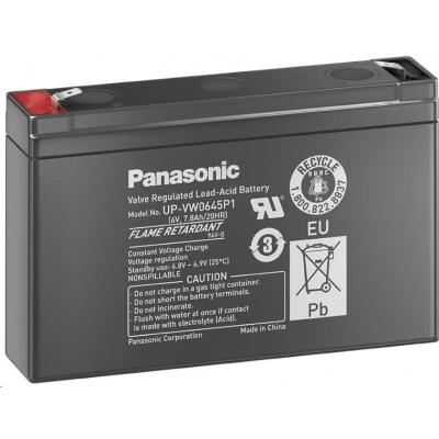 Baterie - Panasonic UP-VW0645P1 (6V/9Ah-45W/čl. - Faston 250), životnost 6-9 let