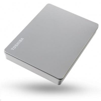 """TOSHIBA HDD CANVIO FLEX 4TB, 2,5"""", USB 3.2 Gen 1, stříbrná / silver"""