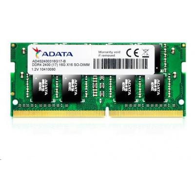 SODIMM DDR4 16GB 2400MHz CL17 ADATA Premier memory, 1024x8, Single