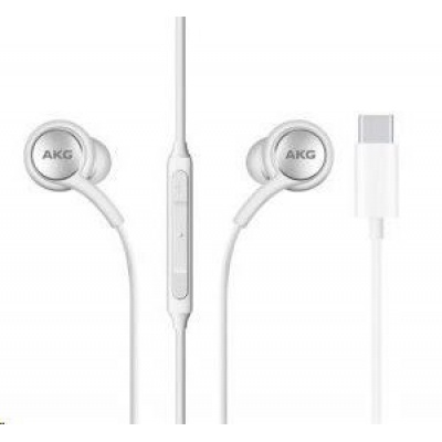 Samsung stereo sluchátka EO-IC100BWE, USB-C, bílá
