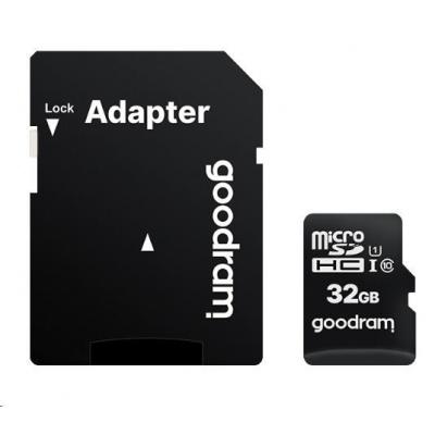 GOODRAM MicroSDHC karta 32GB M1AA, UHS-I Class 10, U1 + adaptér