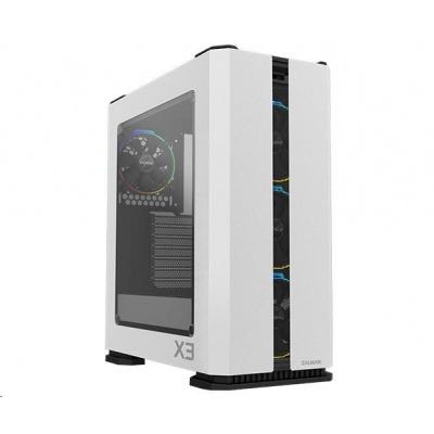 ZALMAN skříň X3 White,  ATX bez zdroje, aRGB
