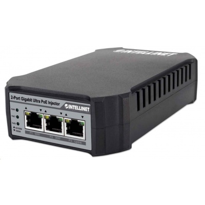 Intellinet 2-port Gigabit Ultra PoE Injector, 1x 50W, 1x 30W port, IEEE 802.3at/af