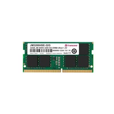 SODIMM DDR4 32GB 3200MHz TRANSCEND 2Rx8 2Gx8 CL22 1.2V