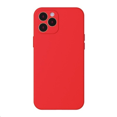 Baseus Liquid Silica Gel Protective Case for Apple iPhone 12 Pro Max 6.7'' Bright Red