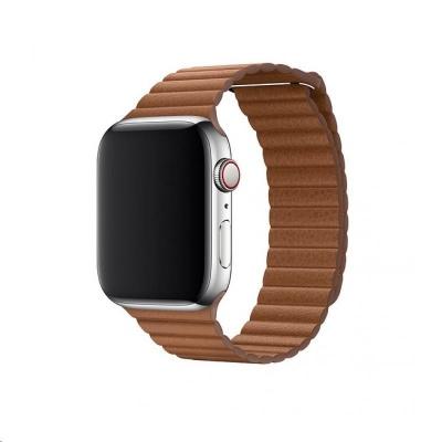 COTEetCI kožený magnetický řemínek Loop Band pro Apple Watch 42 / 44mm hnědý