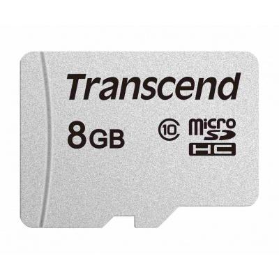 TRANSCEND MicroSDHC karta 8GB 300S, Class 10, bez adaptéru