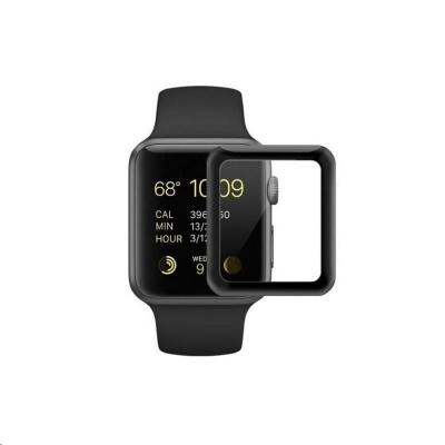 COTEetCI 4D sklo s celoplošným lepením s černým lemem pro Apple watch  42 mm