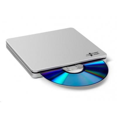 HITACHI LG - externí mechanika DVD-W/CD-RW/DVD±R/±RW/RAM/M-DISC GP70NS50, Blade Ultra Slim, Silver, box+SW