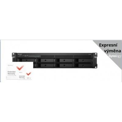 Synology RS1221+ RackStation (4C/Ryzen V1500B/2,2GHz/4GBRAM/8xSATA/2xUSB3.0/4xGbE/1xPCle)+ záruka 5 let