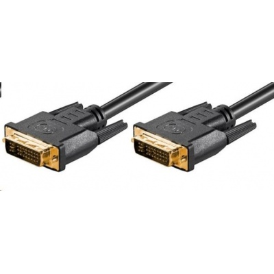 PREMIUMCORD Kabel DVI - DVI propojovací 2m (DVI-I(24+5), M/M, dual link)