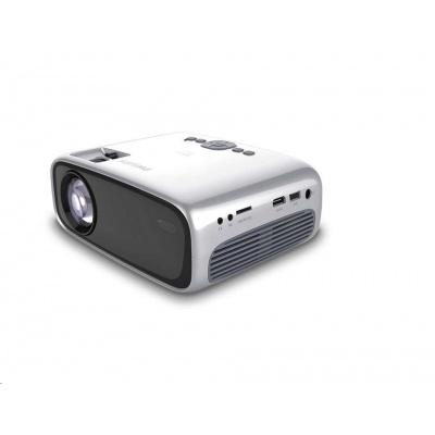 Philips LED mini projektor NeoPix EASY+ NPX445, 2600 LED Lumenů, WVGA, Wi-Fi, BT, repro