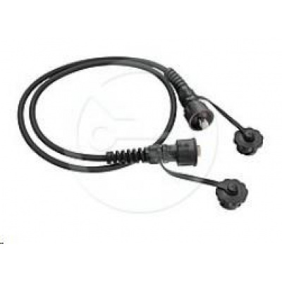 Solarix Průmyslový patch kabel CAT5E UTP 5m černý IP67 C5E-IN-155BK-5MB