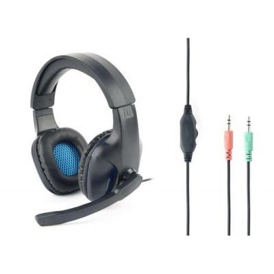 GEMBIRD sluchátka s mikrofonem GHS-04, gaming, černo-modrá