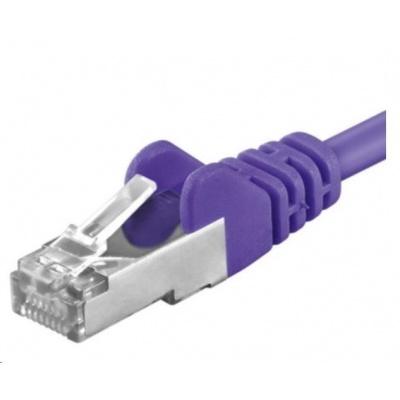PREMIUMCORD Patch kabel CAT6a S-FTP, RJ45-RJ45, AWG 26/7 0,5m fialová