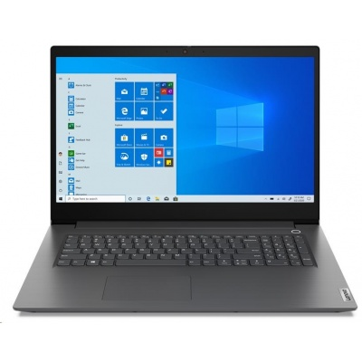 """LENOVO NTB V17-IIL - i7-1065G7@1.3GHz,17.3"""" FHD,12GB,512SSD,GeForce MX330 2GB,noDVD,HDMI,čt.pk,cam,bezOS,2r carryin,šedá"""
