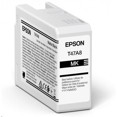 EPSON ink Singlepack Matte Black T47A8 UltraChrome Pro 10 ink 50ml