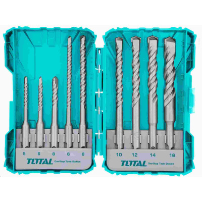 Total TACSDL30901 Vrtáky, sada 9ks, SDS Plus, industrial, SDS Plus