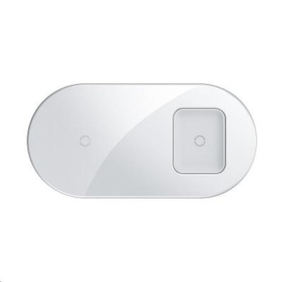 Baseus Simple 2v1 bezdrátová nabíječka 18W pro telefon a sluchátka bílá