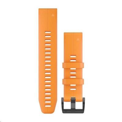 Garmin řemínek pro fenix5 - QuickFit 22, silikonový, oranžový