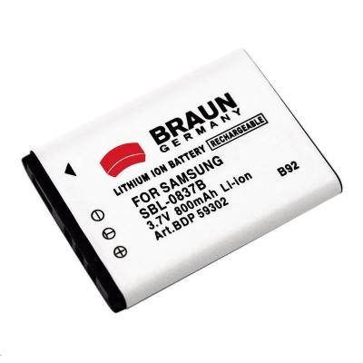 Braun akumulátor SAMSUNG SLB-0837B, 820mAh
