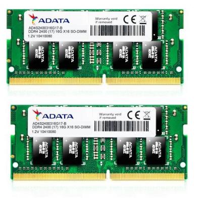 SODIMM DDR4 32GB 2400MHz CL17 (KIT 2x16GB) ADATA Premier memory, 1024x8, Dual
