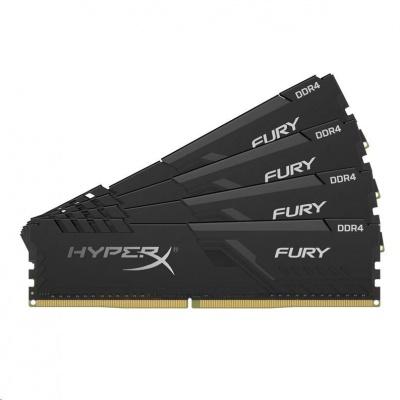 DIMM DDR4 128GB 2400MHz CL15 (Kit of 4) KINGSTON HyperX FURY Black