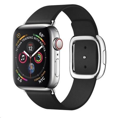 COTEetCI kožený magnetický řemínek Nobleman pro Apple Watch 42 / 44mm černá